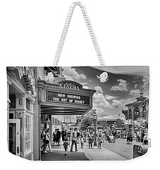 Weekender Tote Bag featuring the photograph The Main Street Cinema by Howard Salmon