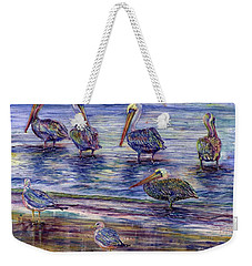 The Majestic Pelican Visit Weekender Tote Bag