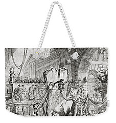 The Man On The Rack Plate II From Carceri D'invenzione Weekender Tote Bag by Giovanni Battista Piranesi