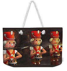 Press Release Christmas Nut Crackers Weekender Tote Bag