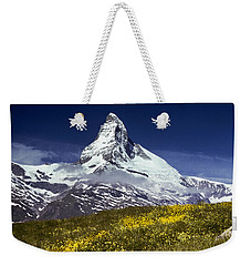 The Matterhorn With Alpine Meadow In Foreground Weekender Tote Bag