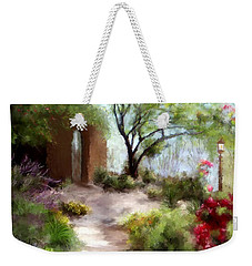 The Meditative Garden  Weekender Tote Bag by Colleen Taylor