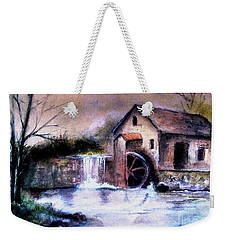 Weekender Tote Bag featuring the painting The Millstream by Hazel Holland