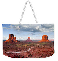 The Mittens And Merrick Butte At Sunset Weekender Tote Bag