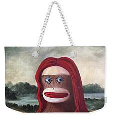 The Monkey Lisa Weekender Tote Bag by Randy Burns