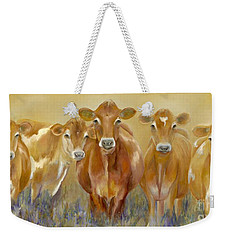 The Morning Moo Weekender Tote Bag by Catherine Davis