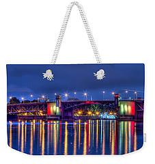 Weekender Tote Bag featuring the photograph Morrison Bridge - Pdx  by Thom Zehrfeld