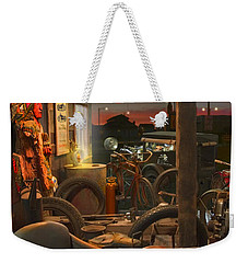 The Motorcycle Shop 2 Weekender Tote Bag