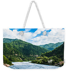 The Mountain Valley Of Rishikesh Weekender Tote Bag