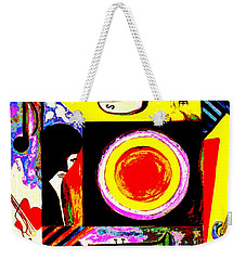 Weekender Tote Bag featuring the painting The Music Maker by Hazel Holland