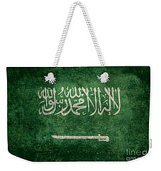 The National Flag Of  Kingdom Of Saudi Arabia  Vintage Version Weekender Tote Bag