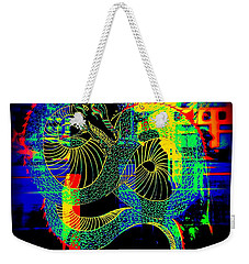 The Neon Dragon Weekender Tote Bag by Kelly Awad