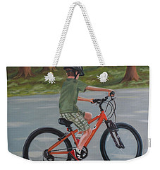 The New Bike Weekender Tote Bag