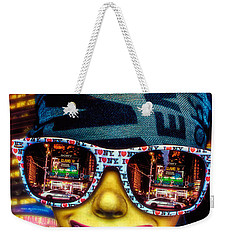 Weekender Tote Bag featuring the photograph The New York City Tourist by Chris Lord