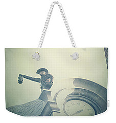Weekender Tote Bag featuring the photograph The Night Watchman by Trish Mistric