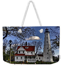 Weekender Tote Bag featuring the photograph The Northpoint Lighthouse by Deborah Klubertanz