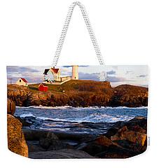 The Nubble Lighthouse Weekender Tote Bag by Steven Ralser