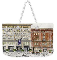 The Nyu Steinhardt Pless Building Weekender Tote Bag by AFineLyne
