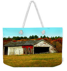 Weekender Tote Bag featuring the photograph The Old Barn by Bruce Carpenter