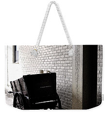 Weekender Tote Bag featuring the photograph The Old Cart From The Series View Of An Old Railroad by Verana Stark