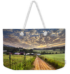 The Old Farm Lane Weekender Tote Bag by Debra and Dave Vanderlaan