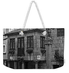 The Old Firewood Marketplace Bw Weekender Tote Bag