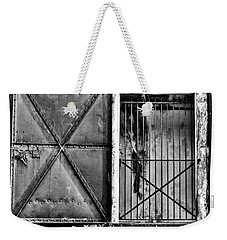The Old Fort Gate-black And White Weekender Tote Bag