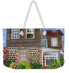 Weekender Tote Bag featuring the painting The Old House by Laura Forde
