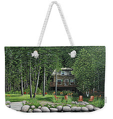 The Old Lawg Caybun On Lake Joe Weekender Tote Bag by Kenneth M  Kirsch