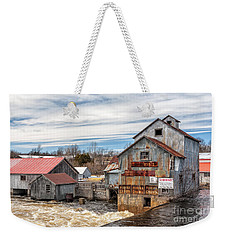 The Old Mill And The Raging River Weekender Tote Bag