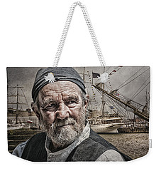 Weekender Tote Bag featuring the photograph The Old Salt by Brian Tarr