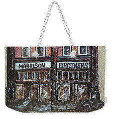 Weekender Tote Bag featuring the painting The Old Store by Eloise Schneider