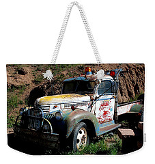 Weekender Tote Bag featuring the photograph The Old Truck by Dany Lison