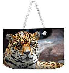 The Ole Leopard Don't Change His Spots Weekender Tote Bag by Lynn Sprowl