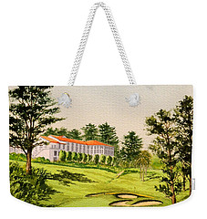Weekender Tote Bag featuring the painting The Olympic Golf Club - 18th Hole by Bill Holkham