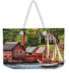 The Paint Factory And The Ardelle Weekender Tote Bag by Eileen Patten Oliver