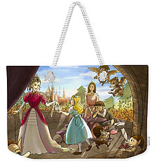 Weekender Tote Bag featuring the painting The Palace Balcony by Reynold Jay