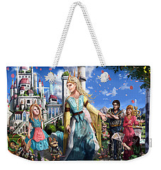 Weekender Tote Bag featuring the painting The Palace Garden  by Reynold Jay