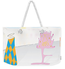 Weekender Tote Bag featuring the digital art The Partygoers by Kevin McLaughlin