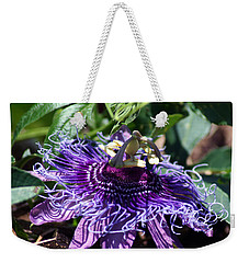 The Passion Flower Weekender Tote Bag by Kim Pate