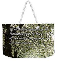 The Perfumed Cherry Tree 1 Weekender Tote Bag
