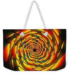Weekender Tote Bag featuring the drawing The Phi Stargate by Derek Gedney