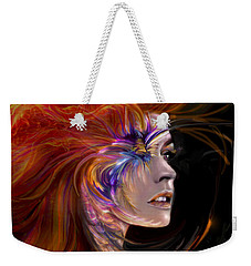 The Phoenix  Fire Flames And Rebirth Weekender Tote Bag