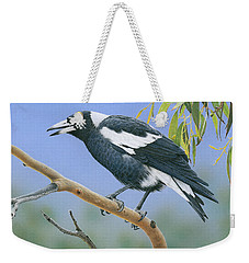 The Pied Piper - Australian Magpie Weekender Tote Bag