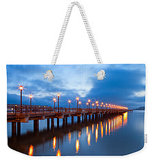 The Pier Weekender Tote Bag by Jonathan Nguyen