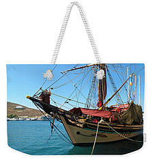 The Pirate Ship  Weekender Tote Bag by Micki Findlay
