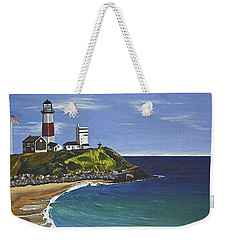 The Point Weekender Tote Bag by Donna Blossom