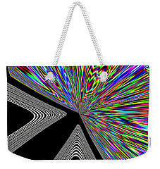Weekender Tote Bag featuring the digital art The Point by Will Borden
