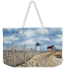 The Pole Line To Race Point Light Weekender Tote Bag