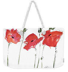 The Poppy Ladies Weekender Tote Bag by Kathleen McElwaine